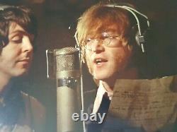 SIGNED Ringo Starr John Lennon Paul McCartney Beatles photograph Genesis COA
