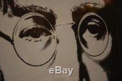 Silkscreen Portrait John Lennon Print Bag One Signed Yoko Ono /300 The Beatles