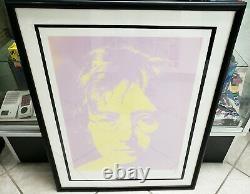 Silkscreen Portrait John Lennon Print Bag One Signed Yoko Ono 55/300 The Beatles
