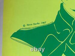 Steve Sachs John Lennon Original Vintage Blacklight Poster The Beatles 1967 60s