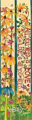 Studio M Beatles John Lennon Lyric Project Art Pole All You Need is Love 6