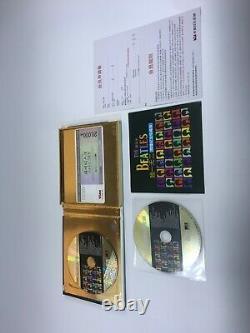 THE BEATLES 24k Gold Music CD 2000s China MEGA RARE John Lennon PAUL MCCARTNEY
