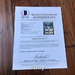 THE BEATLES BAS Beckett Slab Autograph Signed Cut Signatures John Lennon