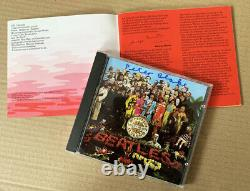 THE BEATLES HAND SIGNED CD Sgt Pepper SIGNED BY THE ARTIST SIR PETER BLAKE