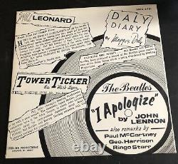 THE BEATLES I APOLOGIZE by JOHN LENNON Sterling Productions 8895-6481 MINT