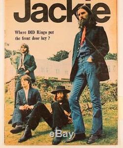 THE BEATLES John Lennon PAUL McCARTNEY Ringo Starr ASCOT Jackie magazine 1970 UK