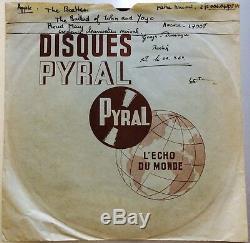 THE BEATLES RARE 8 ACETATE DJ PROMO 1969 FRENCH APPLE ARCHIVE COPY John Lennon