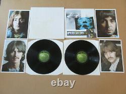 THE BEATLES The White Album FRENCH / UK 2 x LP SET & INSERTS & POSTER PCS 7067/8