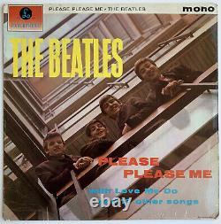 THE BEATLES UK Promo 1st Press PLEASE PLEASE ME LP with JOHN LENNON HANDWRITING