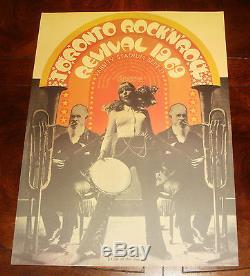 TORONTO ROCK N ROLL REVIVAL 1969 CONCERT POSTER Doors, John Lennon, Eric Clapton