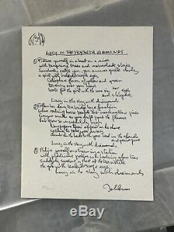 The Artwork of John Lennon lyrics Lucy In the Sky with Diamonds the Beatles