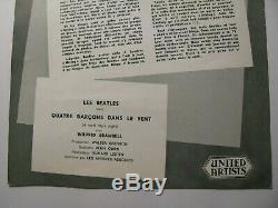 The Beatles 1964 Original A Hard Days Night Flyer Handbill John Lennon
