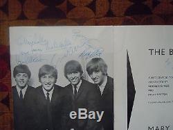 The Beatles Authentic Program Signed 10/09/64 John Lennon's Birthday Autographs