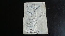 The Beatles Autograph John Lennon & George Harrison Diary Page Jan 1963 Epperson