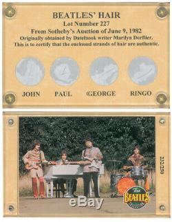 The Beatles Hair Card LE John Lennon Paul McCartney George Harrison Ringo Starr