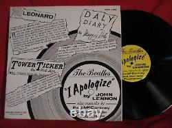 The Beatles I Apologize Chicago Tribune John Lennon Sterling LP Record 8x10 MINT