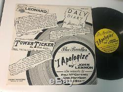 The Beatles I Apologize John Lennon LP VERY RARE ORIG Sterling Productions