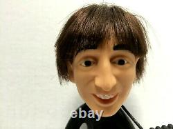 The Beatles John Lennon 1964 REMCO Doll with Instrument NO Cut Hair Soft Body NM
