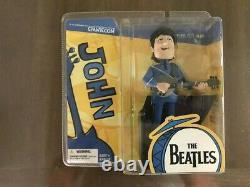 The Beatles John Lennon & George Harrison Cartoon McFarlane Figure Bundle/Lot