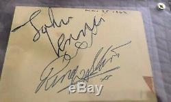 The Beatles / John Lennon & Ringo Starr / Genuine Autographs / Epperson Coa/loa