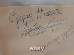 The Beatles John Lennon, Ringo Starr, George Harrison, Authentic Autograph