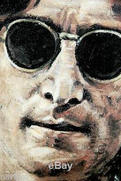 The Beatles! John Lennon Silkscreen & Oil Painting By Steve Holland