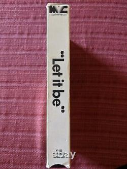 The Beatles Let It Be (VHS, 1981) Apple Music Concert Magnetic Video LABEL