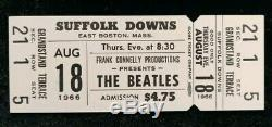 The Beatles Ticket Suffolk Downs Boston 1966 With Letter John Lennon