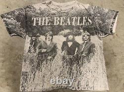 The Beatles Vintage 90s AOP All Over Print Band T-shirt John Lennon