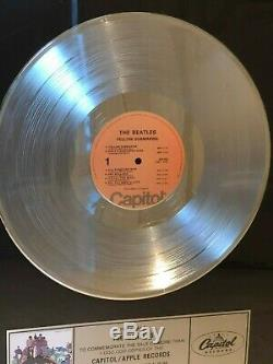 The Beatles YELLOW SUBMARINE Platinum Record Award John Lennon Paul McCartney
