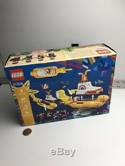 The Beatles Yellow Submarine Lego 21306 New, Factory Sealed