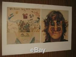 The Beatles Yoko Ono Signed John Lennon Walls And Bridges Lithograph