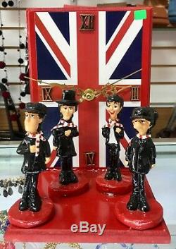 The Beatles figures John Lennon Paul mccartney sculpture decoration clock