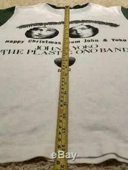 True Vintage John Lennon Yoko Ono War Is Over promo t-shirt 70s Beatles Rare