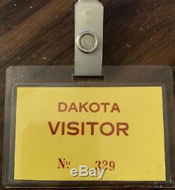 Unbelevable Dakota Visitors Pass John Lennon Paul Goresh Collection The Beatles