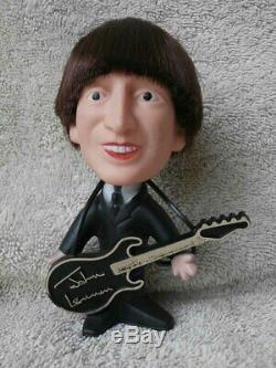 VERY NICE Vintage Remco JOHN LENNON BEATLES Figure Doll with Guitar Soft Body