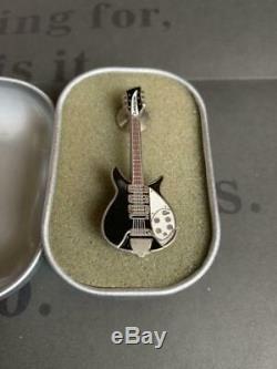 VERY RARE John Lennon Museum Limited Pin badge Rickenbacker Black The Beatles