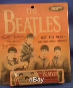 VINTAGE REPRO 60s BEATLES HARMONICA memorabilia John Lennon ad hormonica