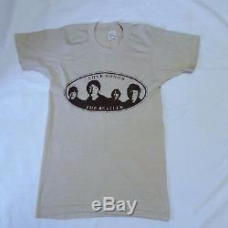 VTG 70s The Beatles Love Songs T Shirt Tour Concert 50/50 Tee John Lennon Small