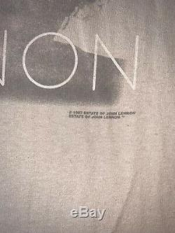 VTG 90s 1997 John Lennon Grail T Shirt The Beatles Yoko Ono Tag Cronies XL
