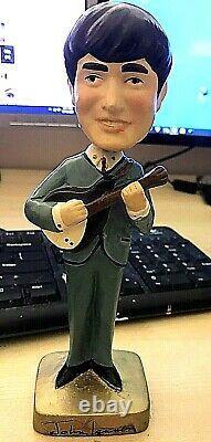 Vintage 1964 Beatles Car Mascots Bobbledhead John Lennon Doll