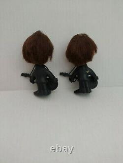 Vintage! 1964 Beatles John Lennon and George Harrison Remco dolls withguitars