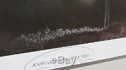 Vintage 1967 John Lennon Richard Avedon Signed Poster Beatles 1967 with frame