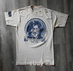 Vintage 1980 Nashville KDF Radio Remembers JOHN LENNON Shirt Black Armband S/M