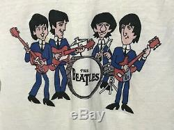 Vintage 1980s The beatles john lennon 60s 70s 80s 90s Animated t-shirt L Rare