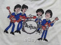 Vintage 1980s The beatles john lennon 60s 70s 80s 90s tour mosquitohead t-shirt