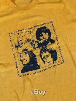Vintage 70s Beatles T shirt size large John Lennon Paul McCartney Ringo Starr