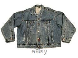 Vintage John Lennon Imagine Tour Denim Jean Jacket Mens XL Clean Beatles