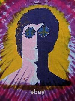 Vintage John Lennon The Beatles Imagine Single Stitched T Shirt Size XL