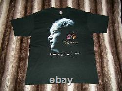Vintage Rock & Death John Lennon The Beatles IMAGINE 2 Sided T-shirt Size XL